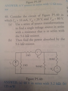 Consider the circuit of Figure p5,40 in which IA=