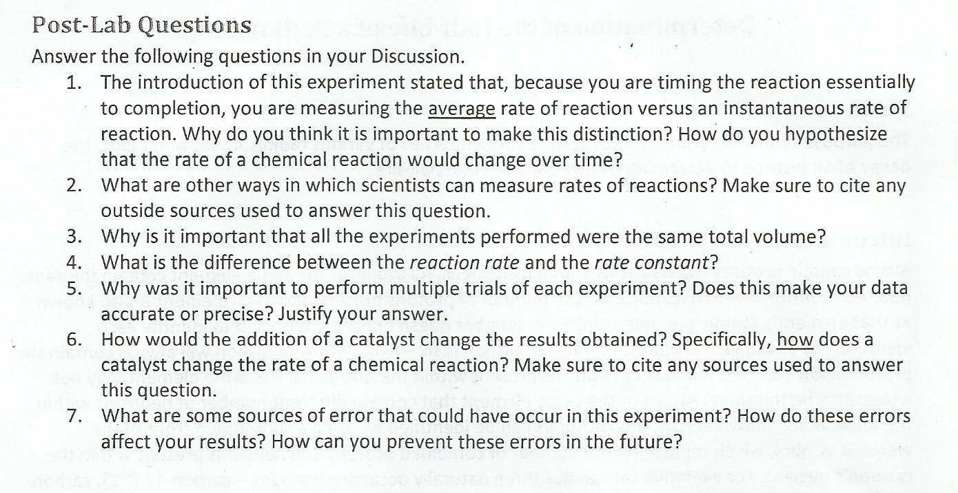 lab report conclusion