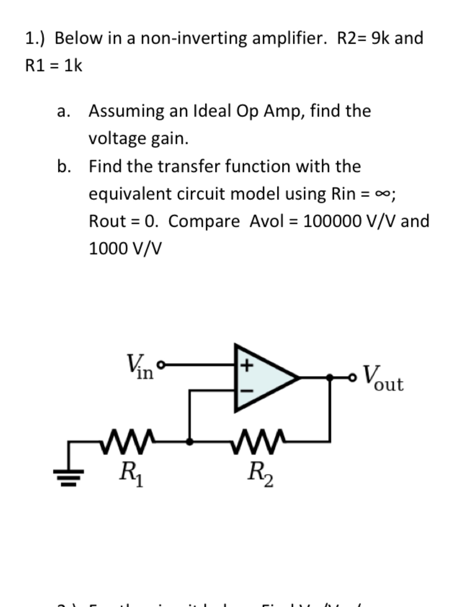 Non Inverting And Amplifier Block Diagram Below In A 1536x2048
