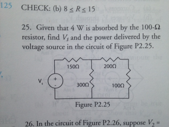CHECK: 8 R 15 Given that 4 W is absorbed by the