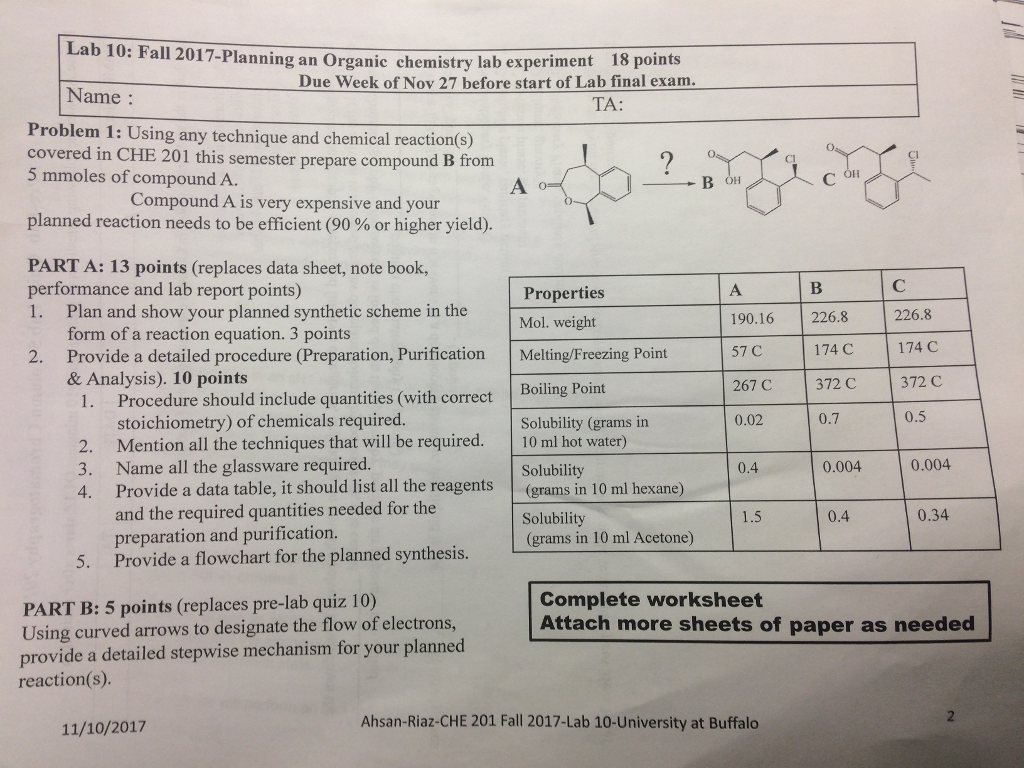 Organic chemistry lab report 1