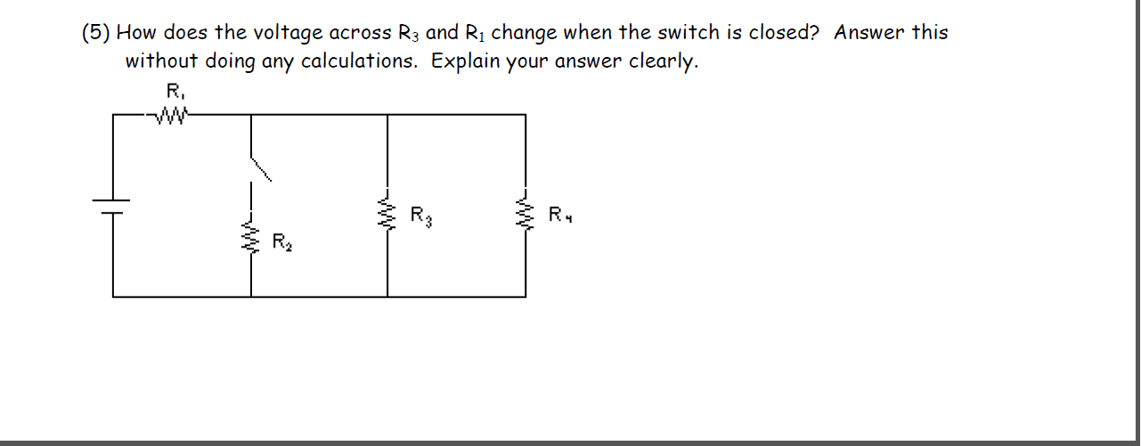 How does the voltage across R3 and R1 change when
