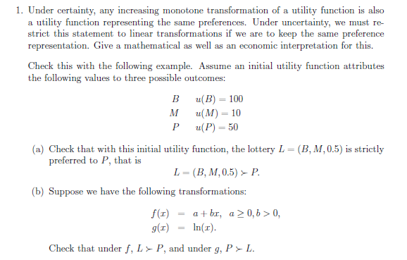 monotonic transform examples