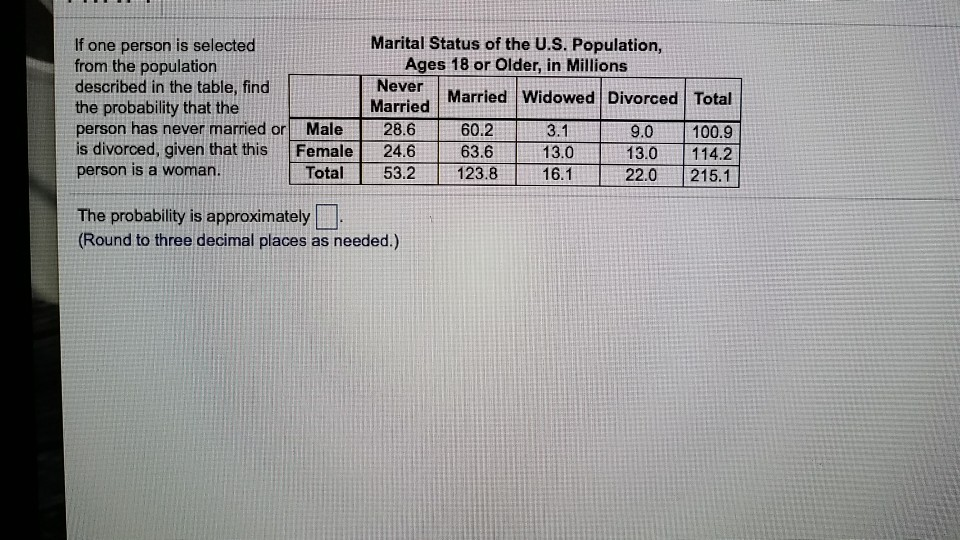 How to find marital status of someone