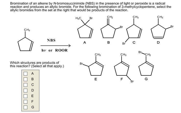 Solved Bromination Of An Alkene By N Bromosuccinimide Nb