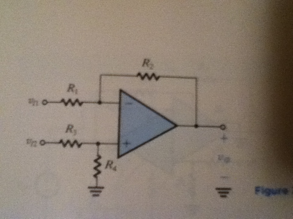 Consider the difference amplifier of Fig. 2.16 wit