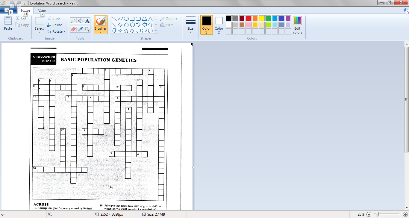 Subject of early genetic study - New York Times Crossword ...