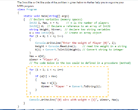 The Java-like Or C=like Code Of The Problem Is Giv    | Chegg com