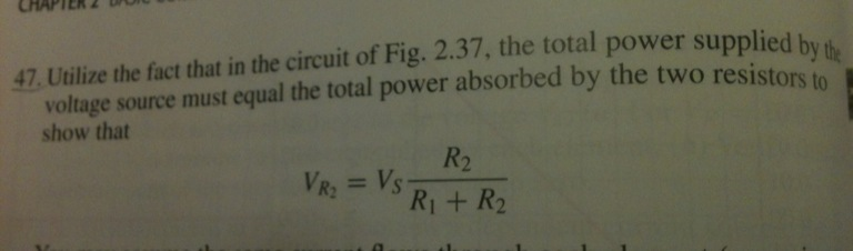 Utilize the fact that in the circuit of Fig. 2.37