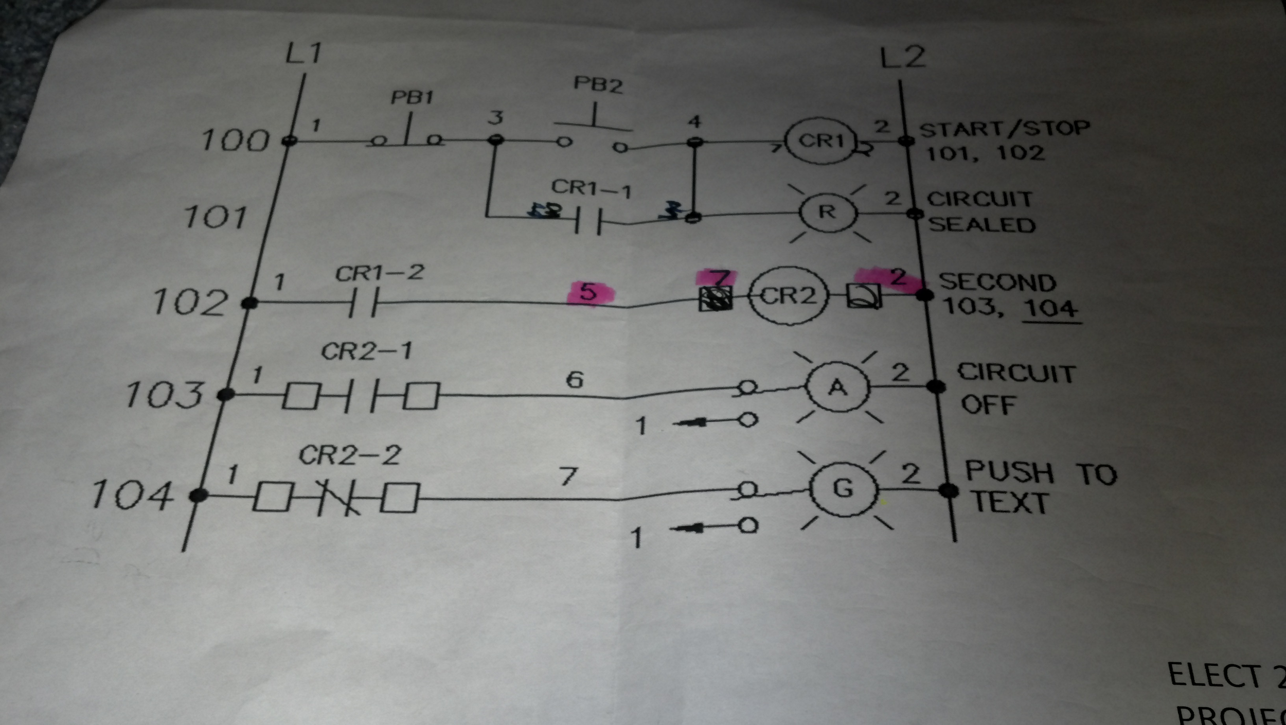 How Do You Wire This Ladder Diagrampicture 1 To Chegg