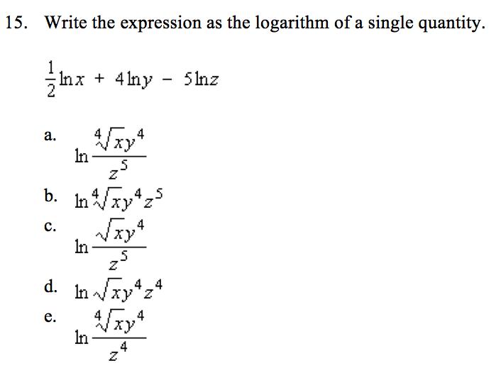 Rewrite as a single logarithm ln