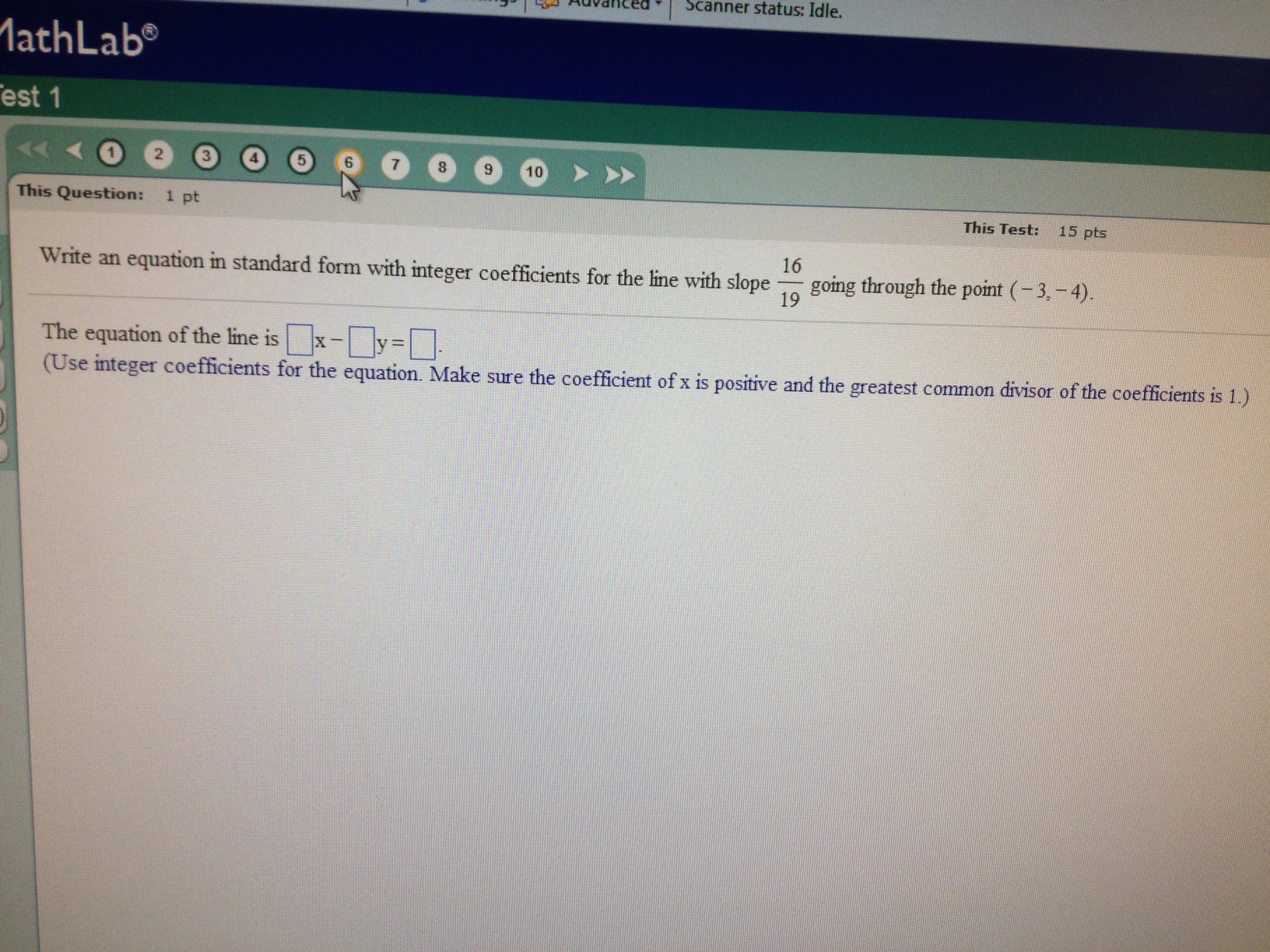 Algebra archive january 23 2013 chegg write an equation in standard form with integer co falaconquin