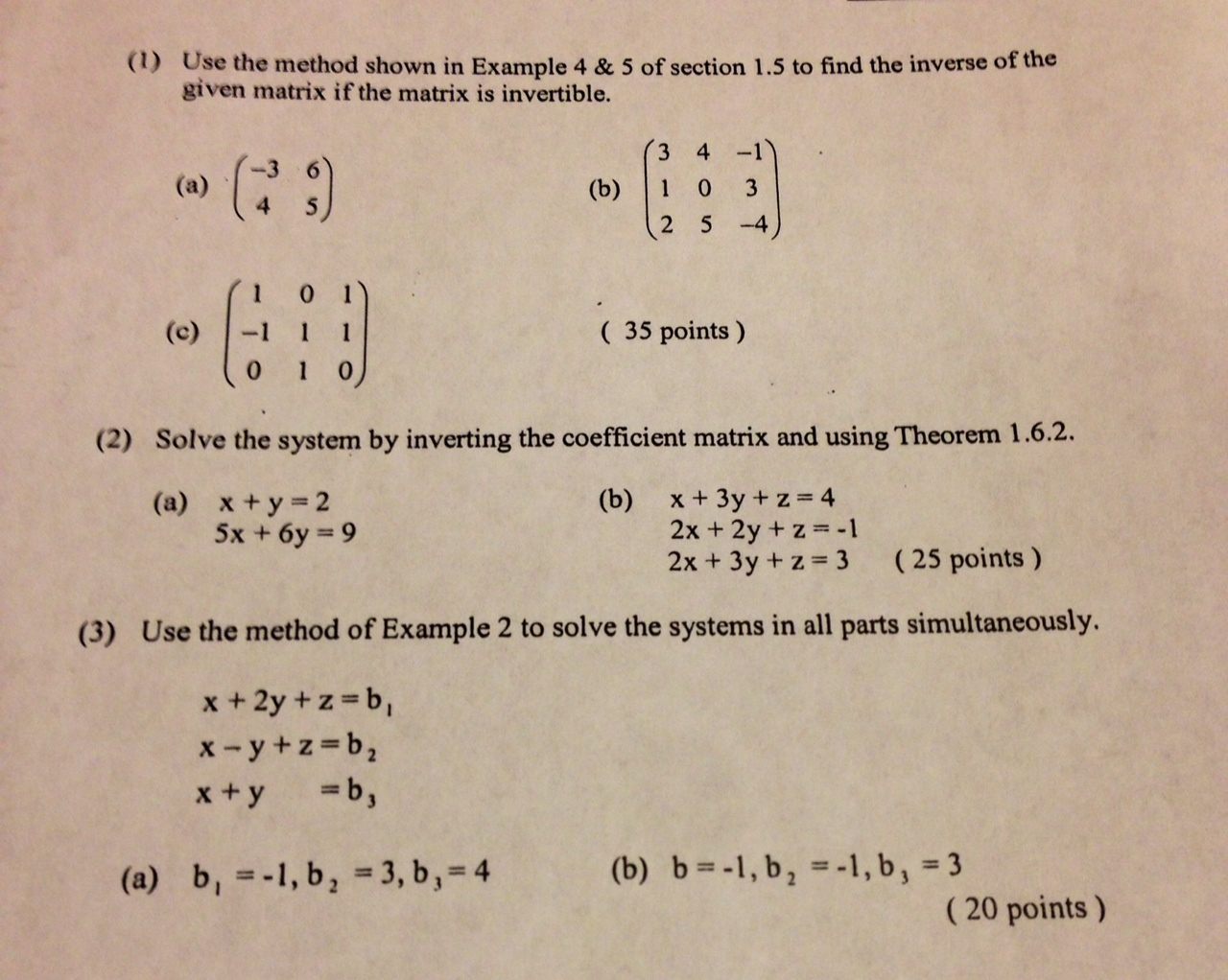 I need help doing my math homework