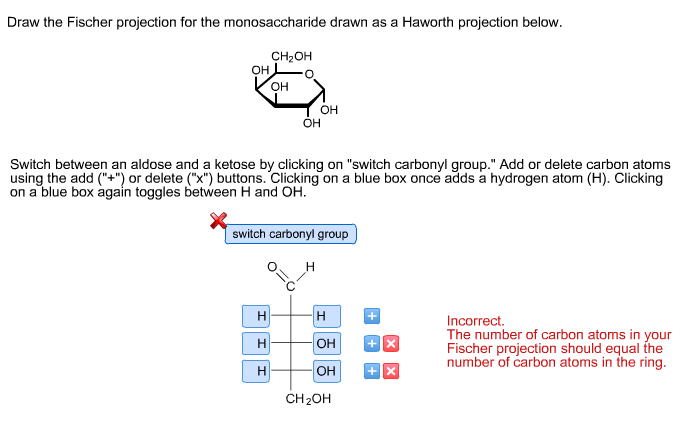 solved draw the fischer projection for the monosaccharide