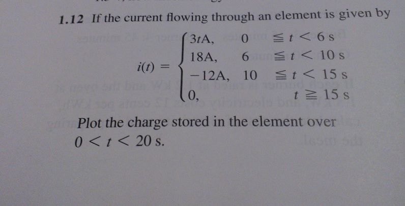 If the current flowing through an element is given