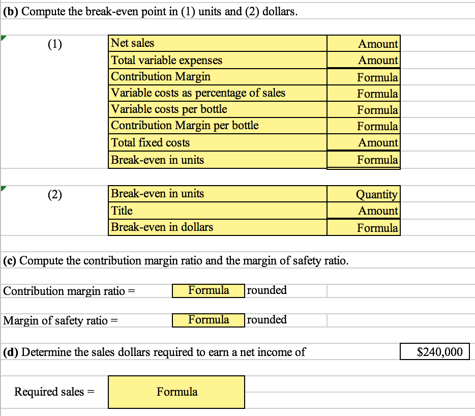 how to write an income statement on excel