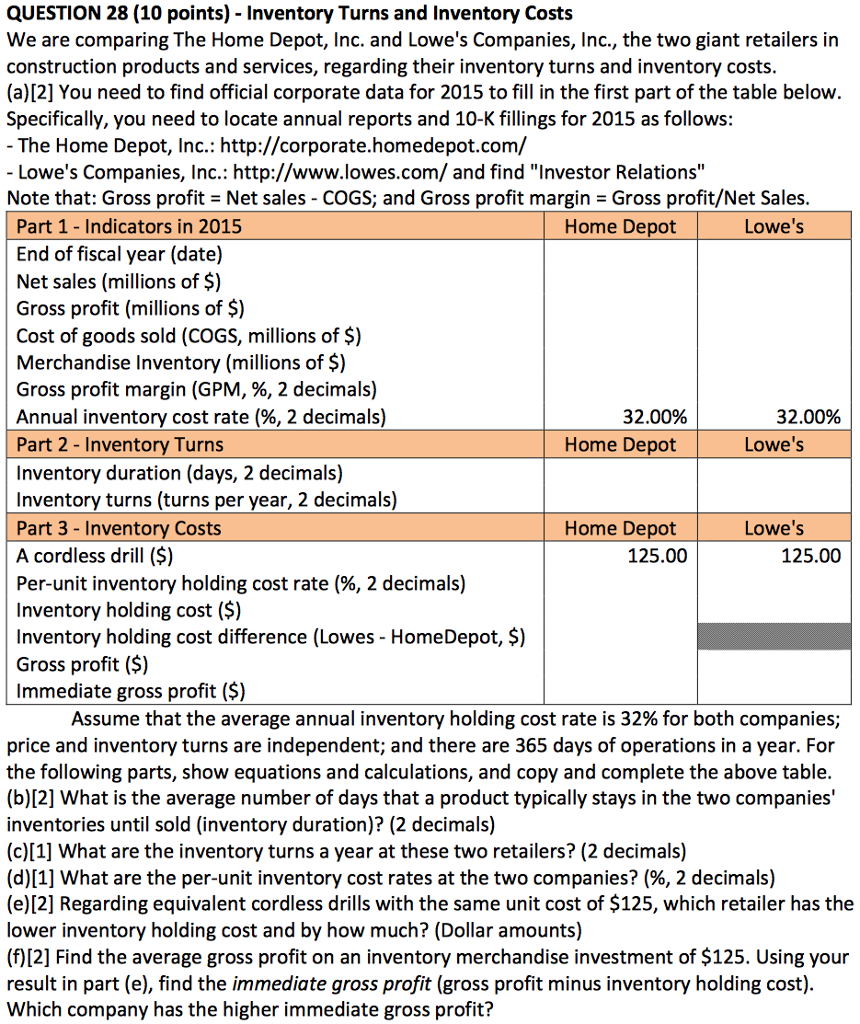home depot case study pdf