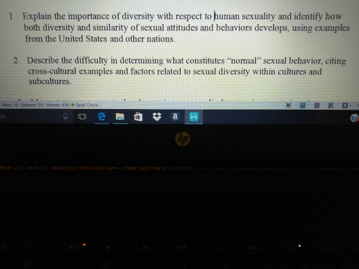 Sexuality related questions