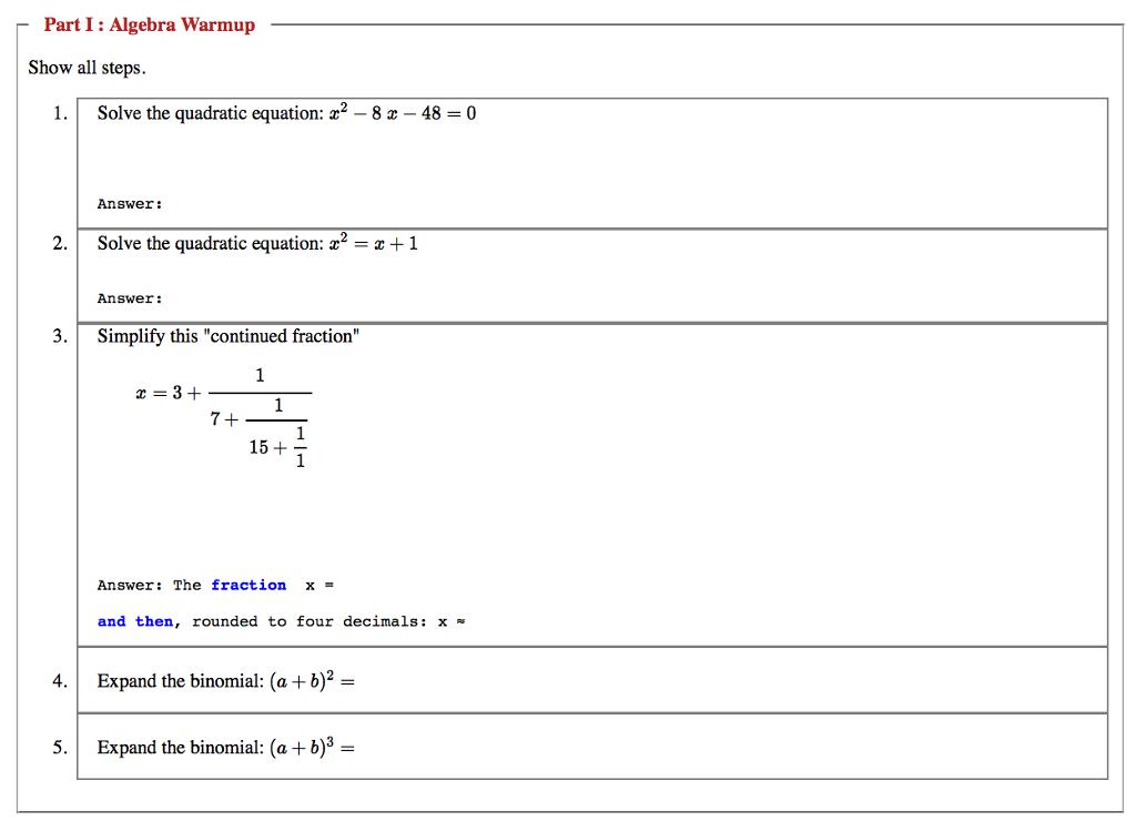 Quadratic formula solving equations fractions decimals