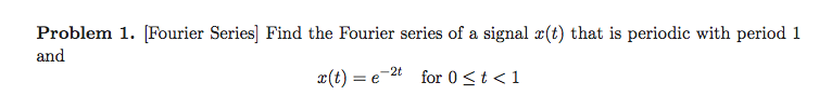 [Fourier Series] Find the Fourier series of a sign