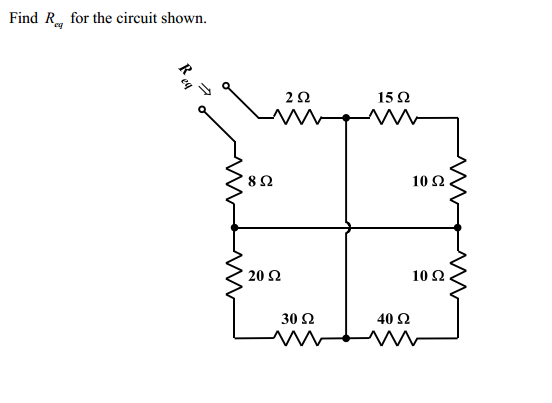 Find Req for the circuit shown.