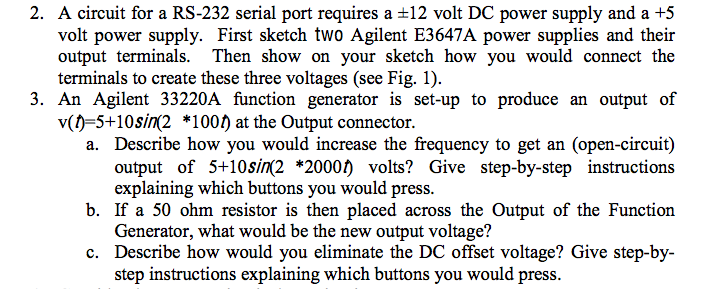 A circuit for a RS-232 serial port requires a plu