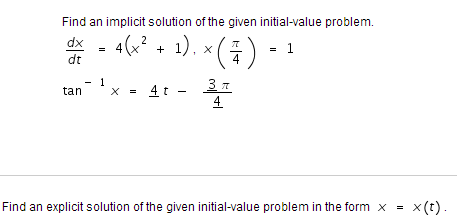 how to find implicit solution of exact differential equation