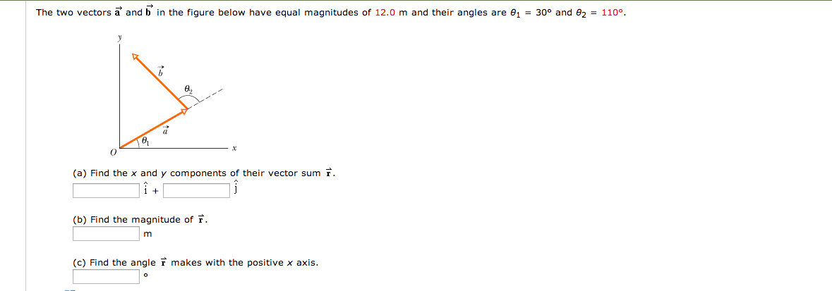 how to find single vector equal to sum of vectors