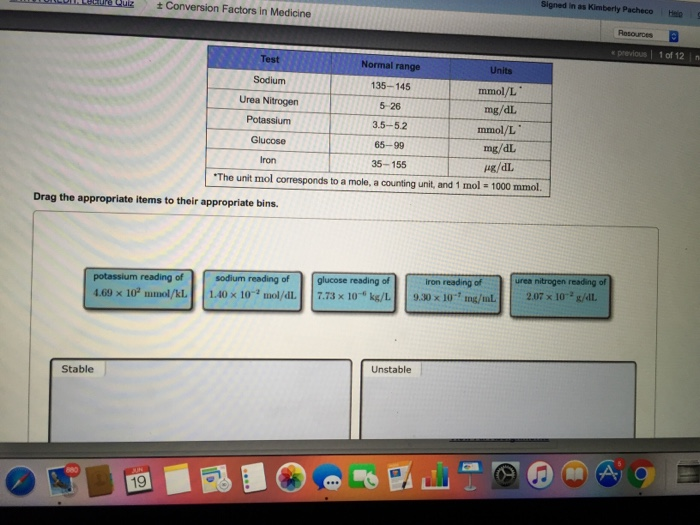 Conversion de mg/dl a mmol/l urea