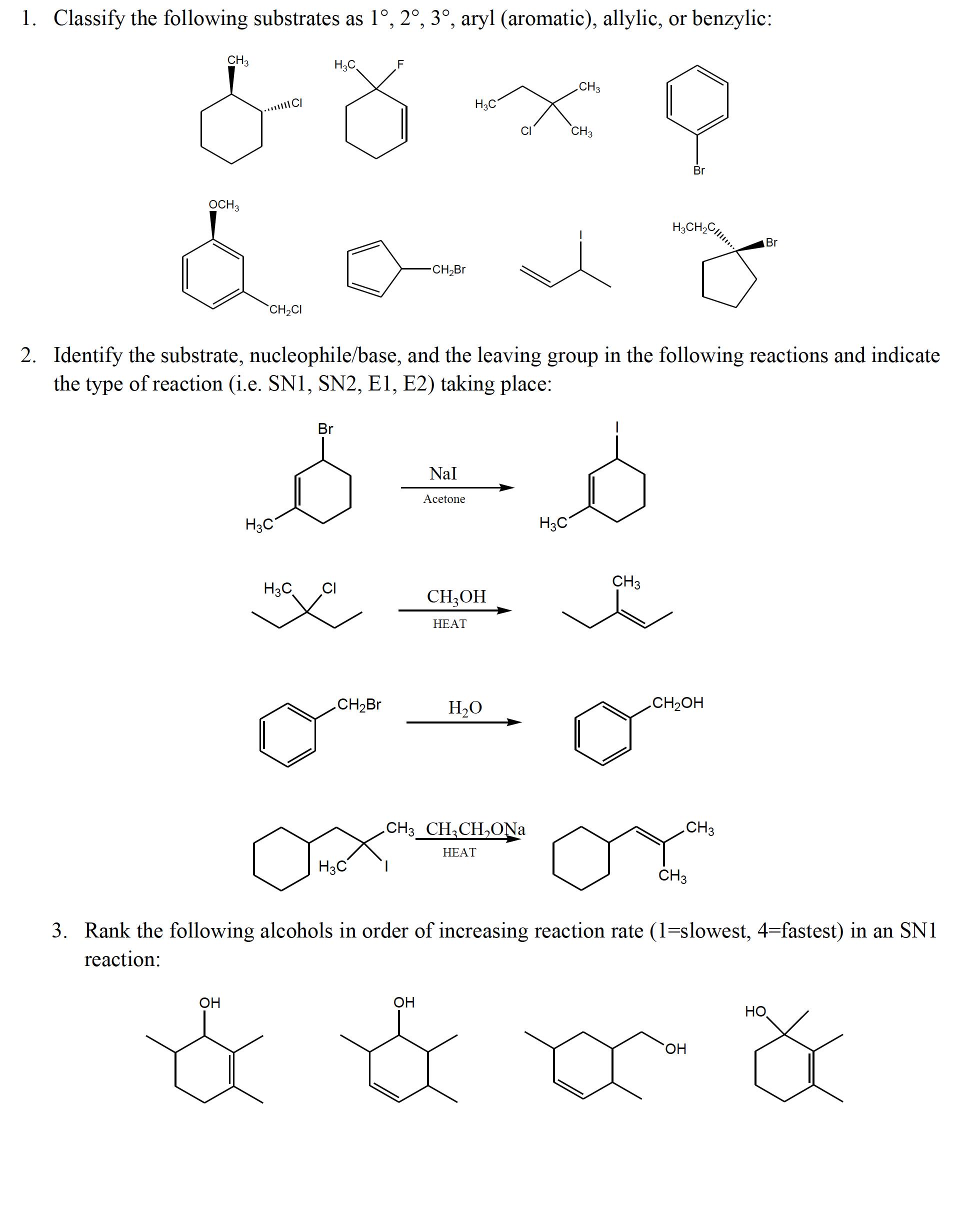 Organic chem 2 quiz 1