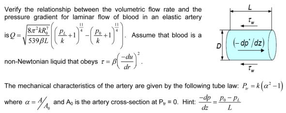 show mathematically the relationship between flow pressure and resistance