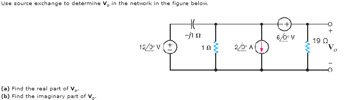 Use source exchange to determine Vo in the network