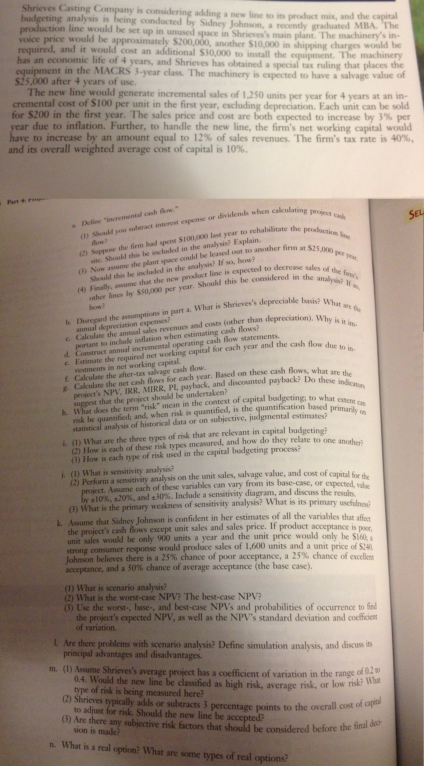 Need the solutions to Chapter 11 Minicase from Fin