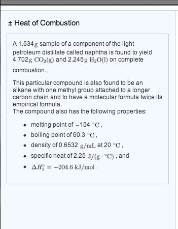 Solved: A 1 534g Sample Of A Component Of The Light Petrol