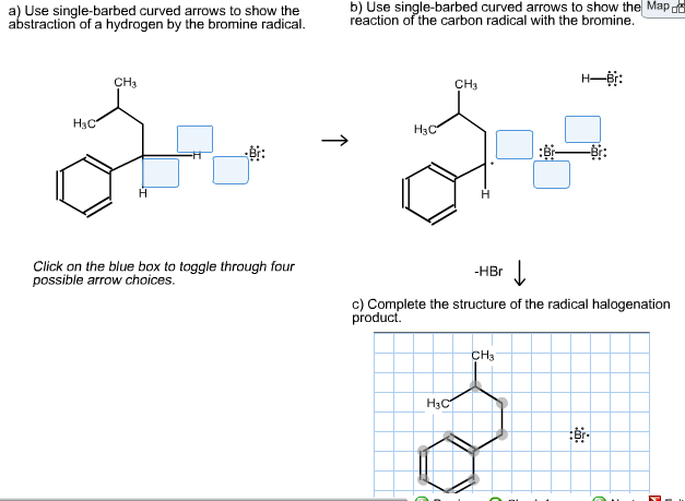 write a mechanism for the following radical halogenation reaction