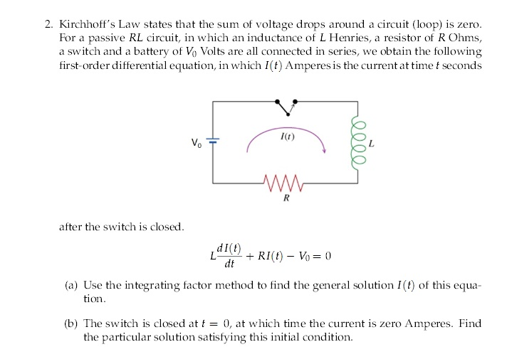 Solved: Kirchhoff's Law States That The Sum Of Voltage Dro ...