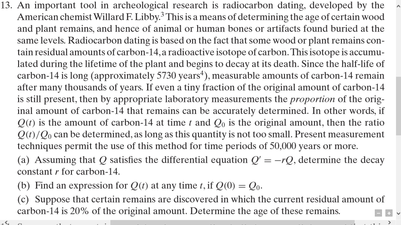 How was carbon dating developed