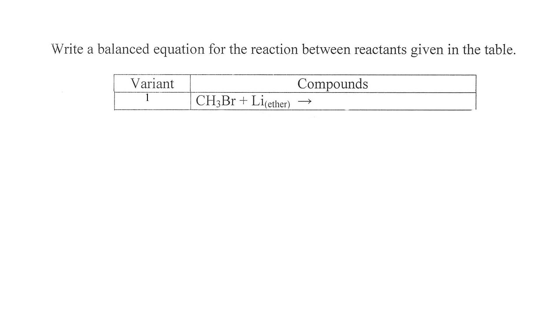 Balanced chemical equation for reaction between hexene and bromine solution?