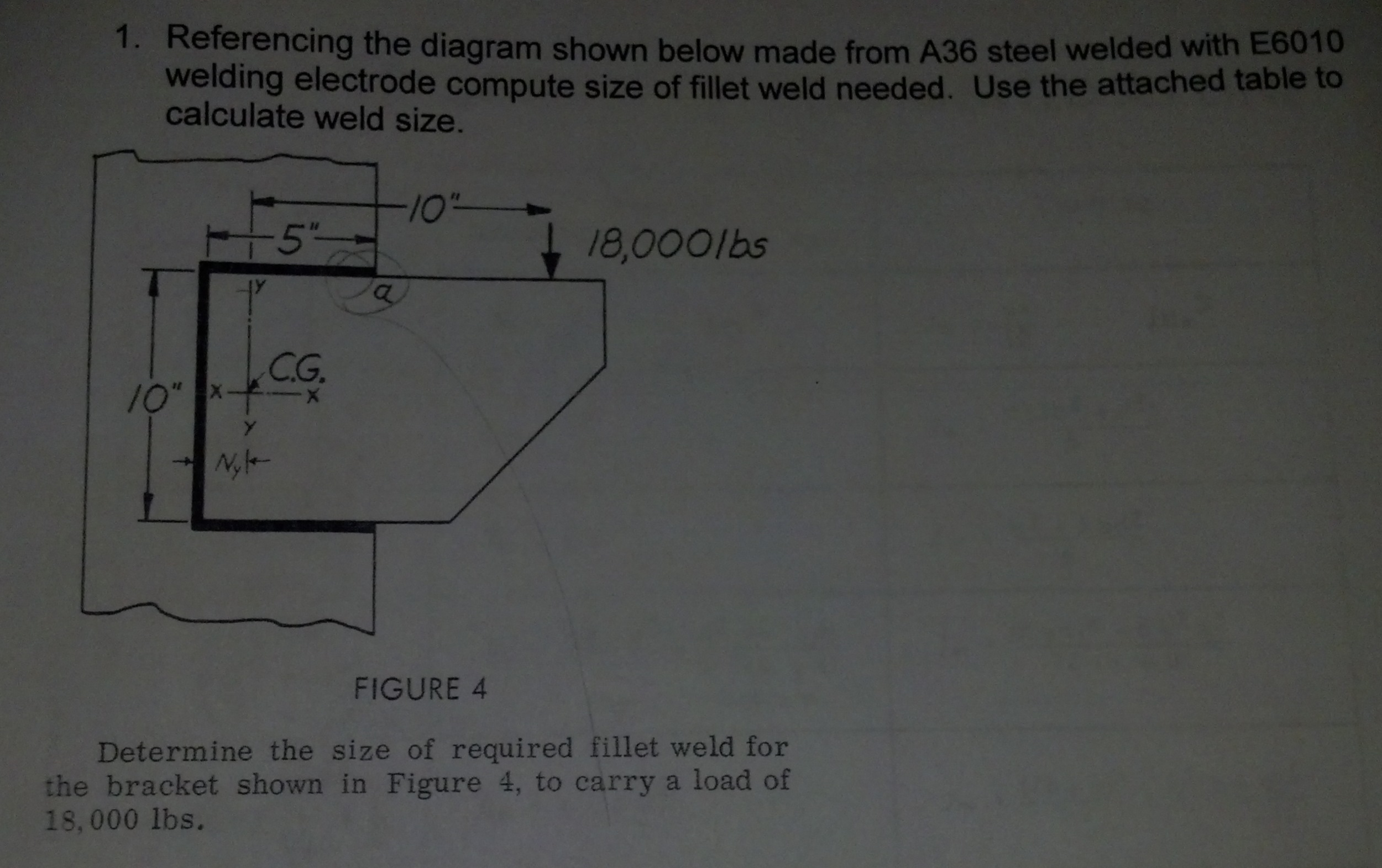 Solved Referencing The Diagram Shown Below Made From A36 For Welding