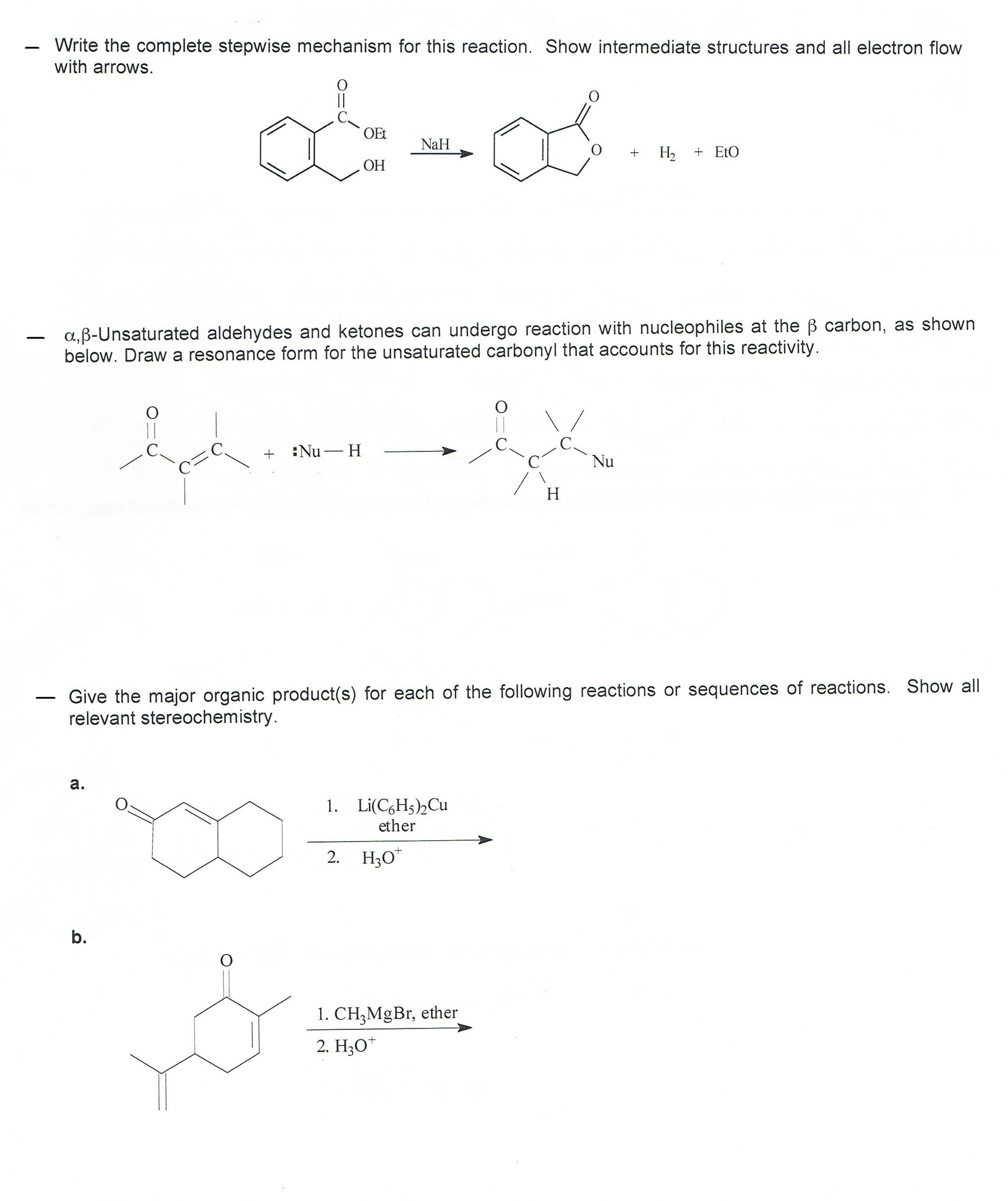 write a mechanism for the following reaction show