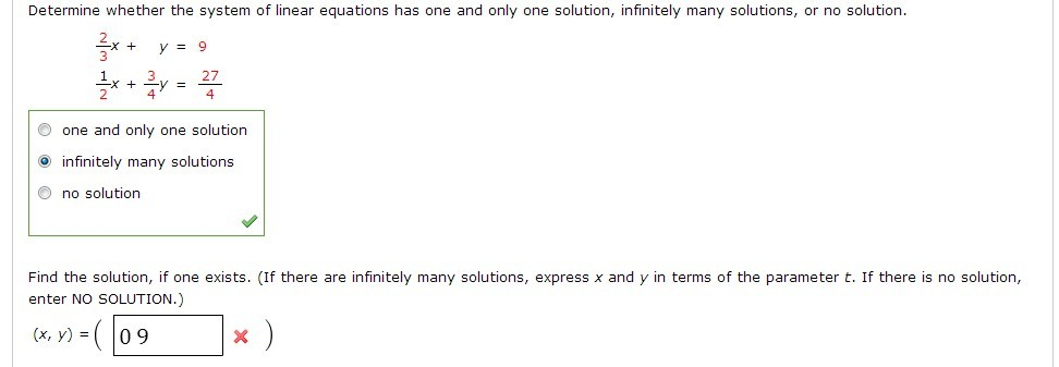 Solved: Determine Whether The System Of Linear Equations H ...