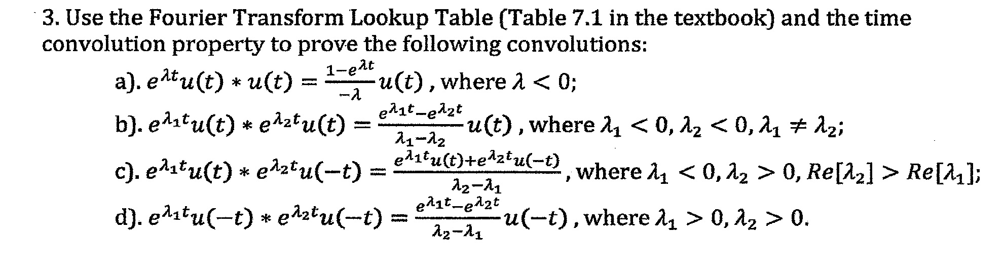Use the fourier transform lookup Table and the tim