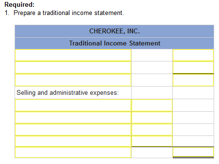 Cherokee inc is a merchandiser that provided the following information