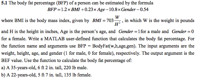 How To Calculate Percent Body Fat
