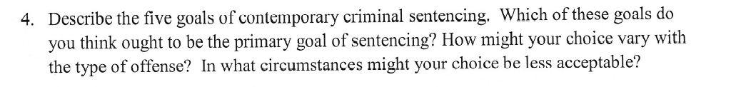 goals of sentencing