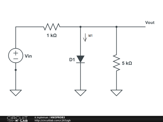 Use the constant-voltage-drop model for the diode