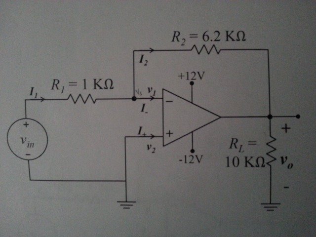 1.) write equation node for the circuit shown abov