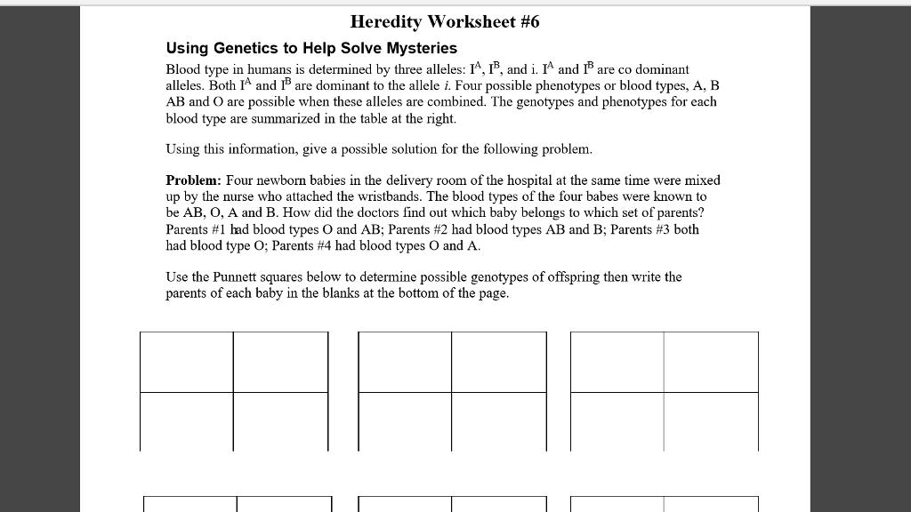 100 patterns of inheritance worksheet lesson overview 11 3 other patterns of inheritance. Black Bedroom Furniture Sets. Home Design Ideas