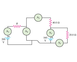 Solved In The Circuit Shown In The Figure Ammeter A1 Rea