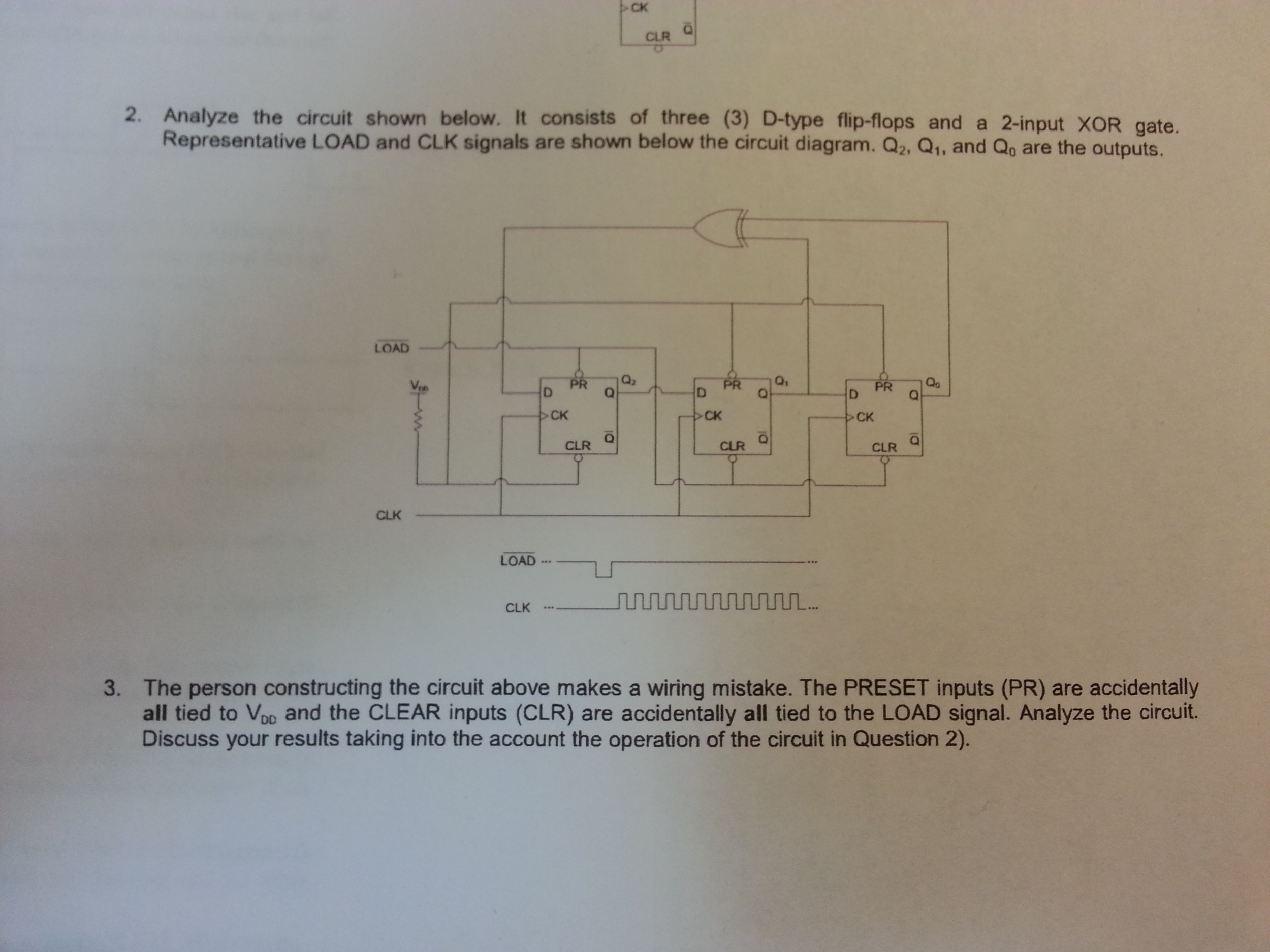 Solved Show How To Build A S R Type Latch Using Single Electrical Diagram Of Xor Gate